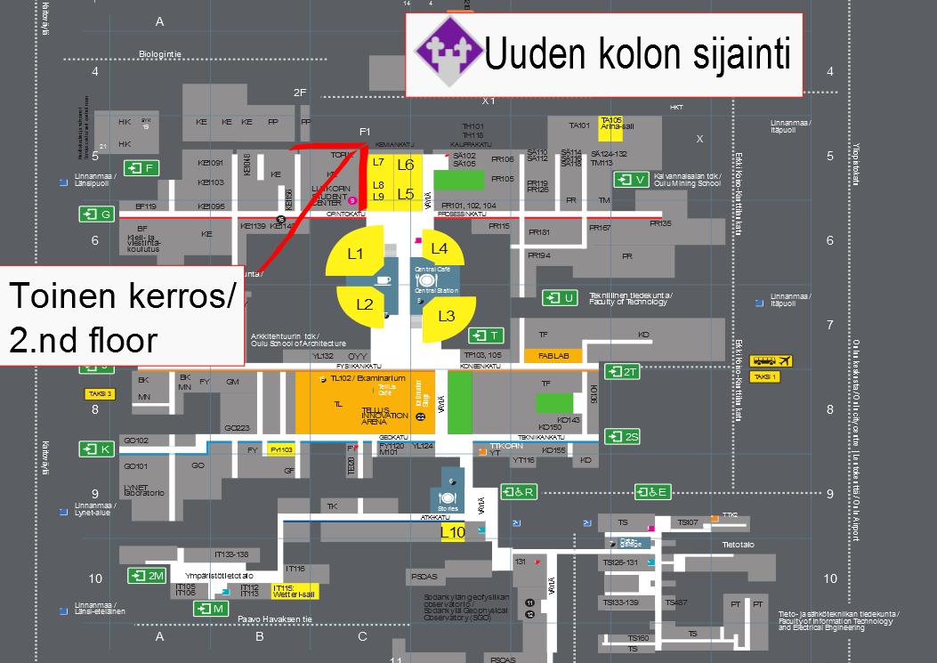 Kartta SOOPAn kololle / Directions to SOOPA kolo